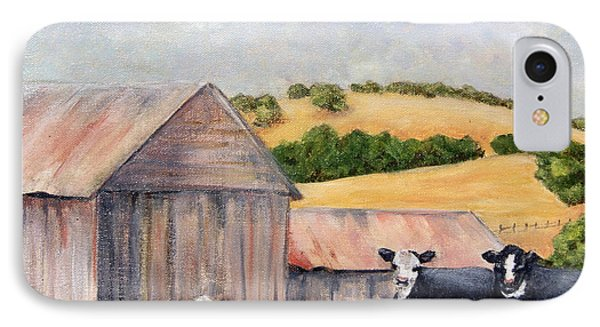 IPhone Case featuring the painting Behind The Barn by Terry Taylor