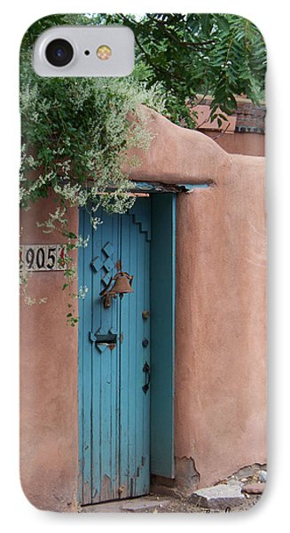 Behind The Blue Door IPhone Case by Sylvia Thornton