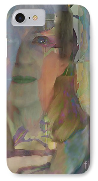 IPhone Case featuring the digital art Behind The Curtain by Ursula Freer