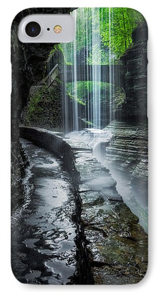 Behind The Falls IPhone Case by Bill Wakeley