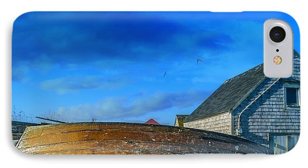Behind The Fishing Shed IPhone Case by Ken Morris