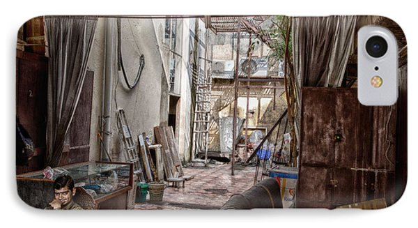 IPhone Case featuring the digital art Behind The Market by John Hoey