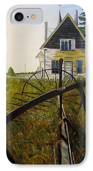 IPhone Case featuring the painting Behind The Old Church by Marilyn  McNish