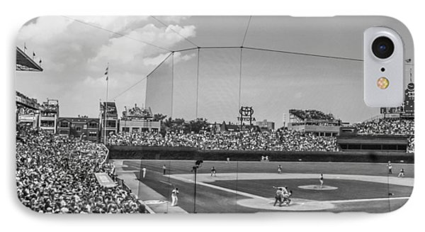 Behind The Plate In Wrigley IPhone Case by John McGraw