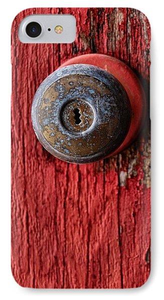 Behind The Red Door Phone Case by Tom Druin