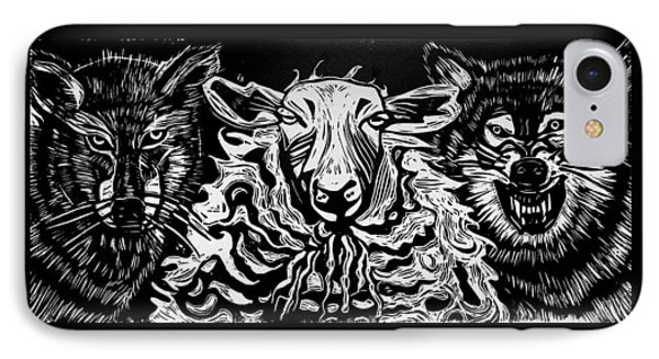 Behold I Send You Out As Sheep Among Wolves IPhone Case by Sarah Taylor Ko