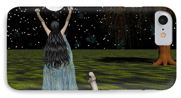 Behold The Moon IPhone Case by Michele Wilson