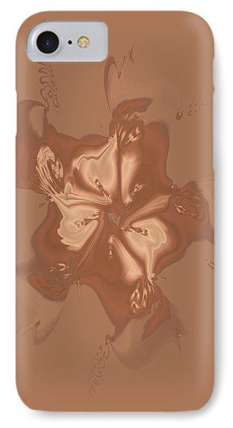 Beige Satin Morning Glory IPhone Case by Judi Suni Hall