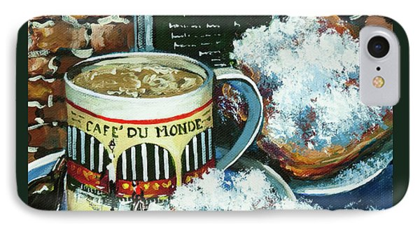 Beignets And Cafe Au Lait IPhone Case by Dianne Parks