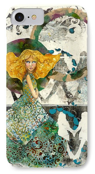IPhone Case featuring the mixed media Being A Girl by P Maure Bausch
