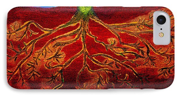 Being Rooted And Grounded In My Good Soil Phone Case by Sandra Pena de Ortiz