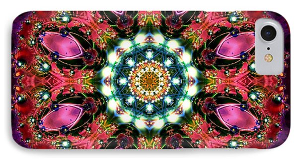IPhone Case featuring the digital art Bejewelled Mandala No 1 by Charmaine Zoe