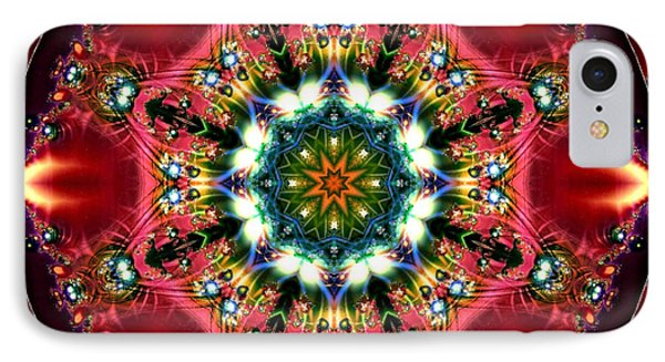 IPhone Case featuring the digital art Bejewelled Mandala No 2 by Charmaine Zoe