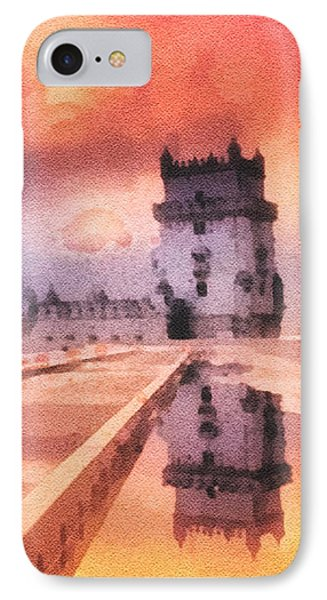 Belem Tower Phone Case by Mo T