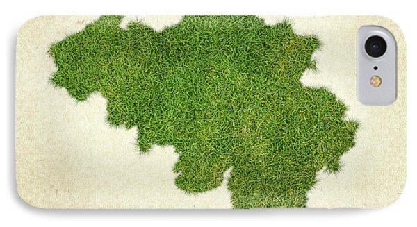 Belgium Grass Map IPhone Case