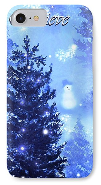 Believe In The Snowman IPhone Case