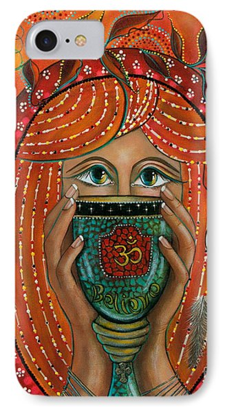 IPhone Case featuring the painting OM by Deborha Kerr
