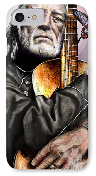 Believing In Rainbows And Butterflies-being Willie Phone Case by Reggie Duffie