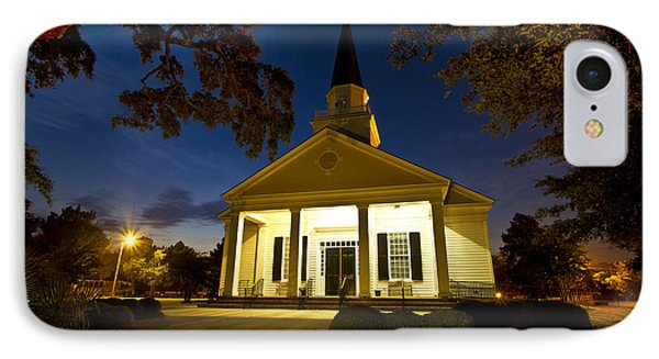 Belin Memorial Umc After Dark IPhone Case by Bill Barber