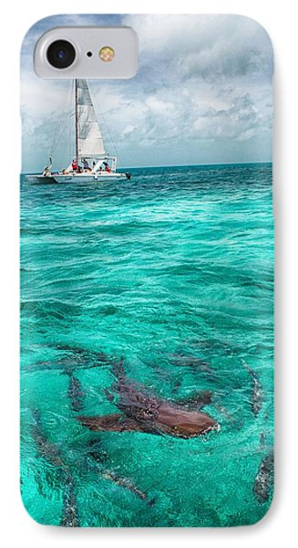 Belize Turquoise Shark N Sail  IPhone Case