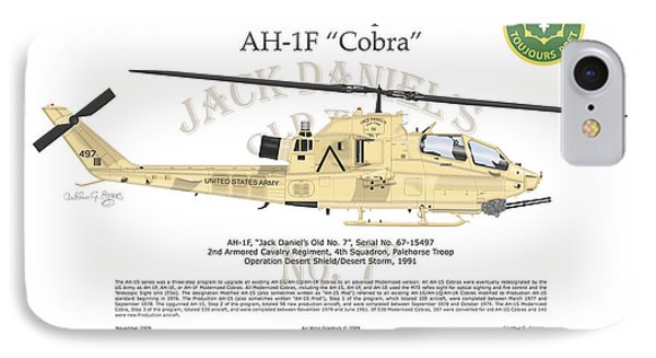 Bell Helicopter Ah-1f Cobra Phone Case by Arthur Eggers
