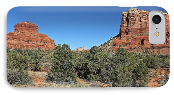 IPhone Case featuring the photograph Bell Rock And Courthouse Butte by Penny Meyers