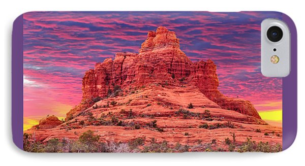 Bell Rock Sunset IPhone Case by Edwin Verin