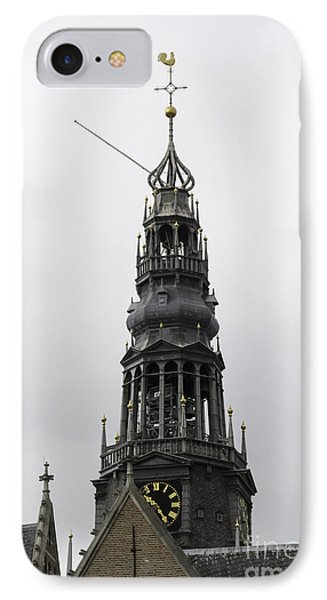 Bell Tower At Oude Kerk Amsterdam IPhone Case