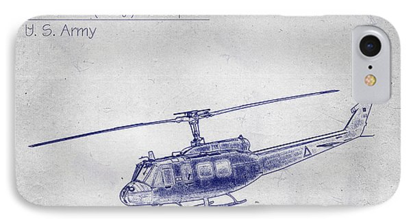 Bell Uh-1h Huey Helicopter  IPhone Case by Barry Jones
