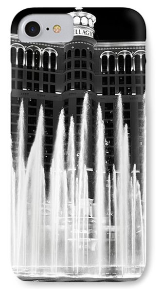 Bellagio Fountains IIi Phone Case by John Rizzuto