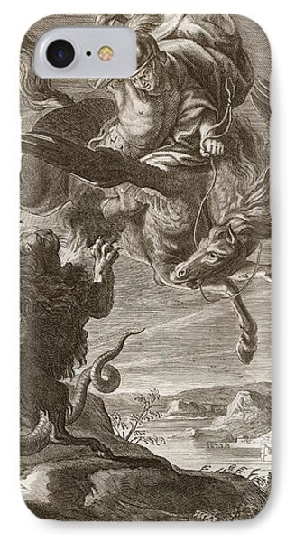 Bellerophon Fights The Chimaera, 1731 IPhone Case
