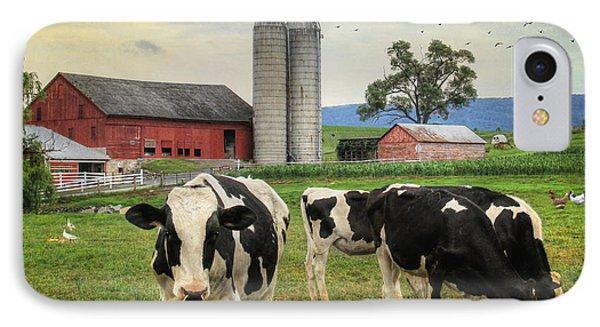 Belleville Amish Farm IPhone Case by Lori Deiter