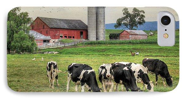 Belleville Cows IPhone Case by Lori Deiter