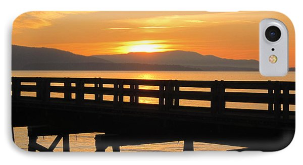 IPhone Case featuring the photograph Bellingham Bay Boardwalk by Karen Molenaar Terrell