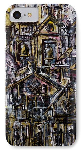 Bells Clocks And Crosses IPhone Case by Maxim Komissarchik