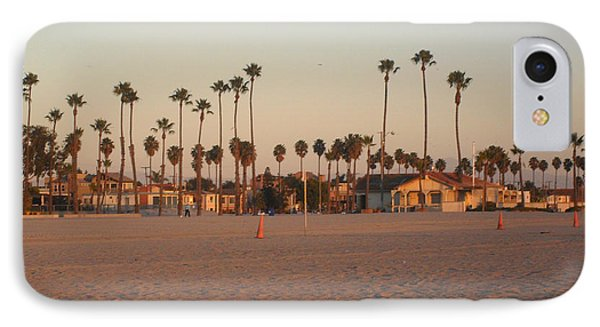 Belmont Shore Sunset IPhone Case by Mark Barclay