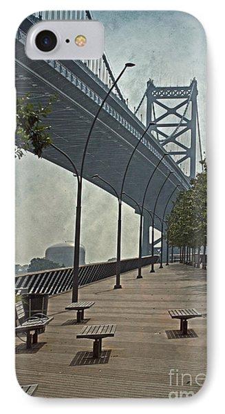 Ben Franklin Bridge And Pier Phone Case by Tom Gari Gallery-Three-Photography