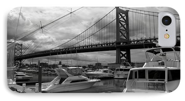 IPhone Case featuring the photograph Ben Franklin Bridge by Dorin Adrian Berbier
