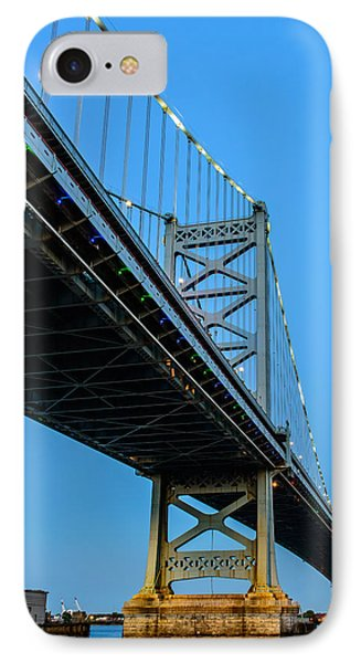 Ben Franklin Bridge Phone Case by Louis Dallara
