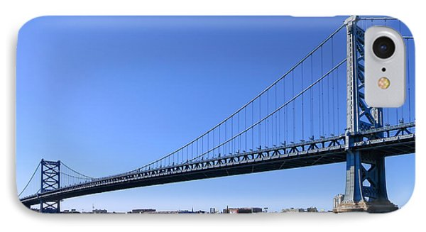 Ben Franklin Bridge IPhone Case by Olivier Le Queinec