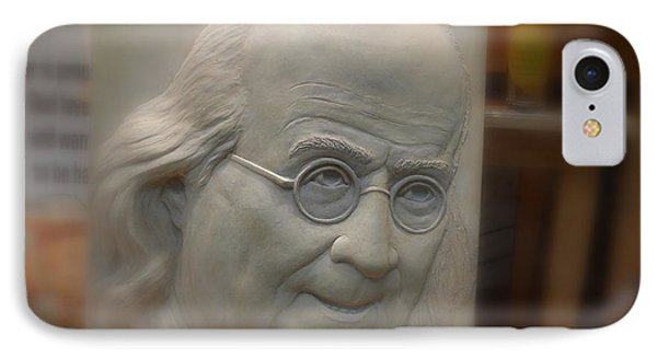 IPhone Case featuring the photograph Ben Franklin Looking Out by Richard Reeve