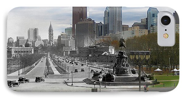 Ben Franklin Parkway Phone Case by Eric Nagy