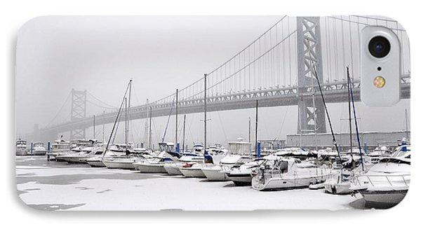 Ben Franklin Yacht Harbor IPhone Case