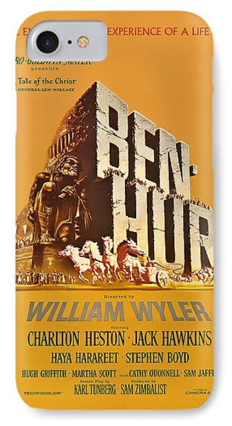 Ben Hur Movie Poster IPhone Case by Mountain Dreams