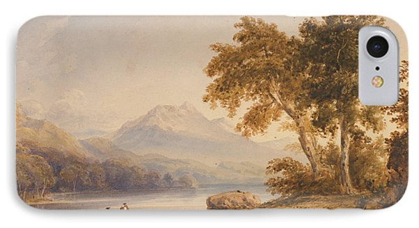 Ben Vorlich And Loch Lomond Phone Case by Anthony Vandyke Copley Fielding