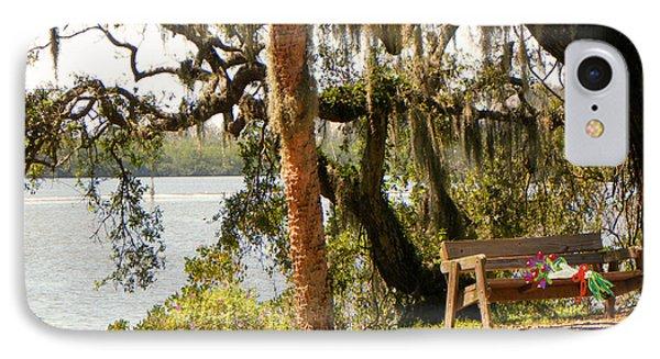 Bench By The Lake Phone Case by Rosalie Scanlon