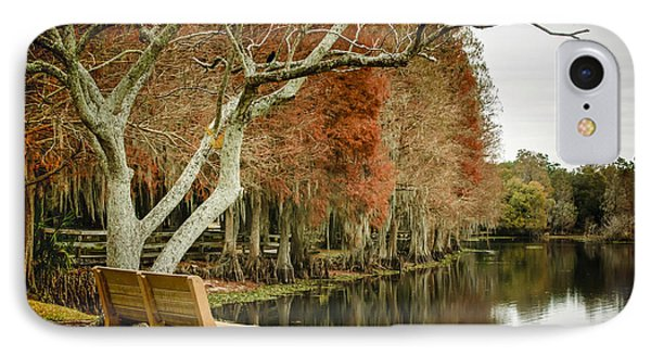 Bench With A View Phone Case by Carolyn Marshall