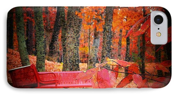 Benches In The Park IPhone Case