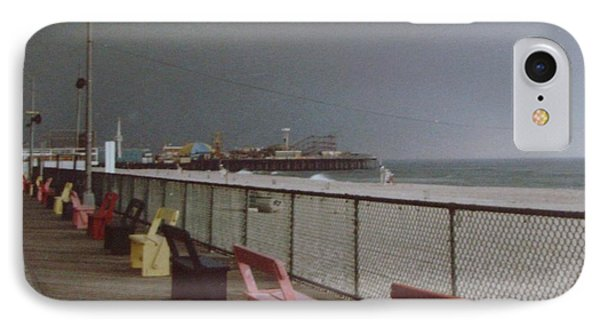 Benches Of Seaside Heights Nj Phone Case by Joann Renner