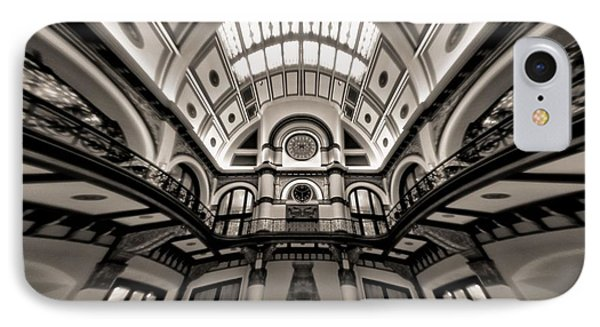 Bending Time In Union Station IPhone Case by Dan Sproul